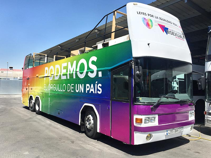 madrid gay pride buses