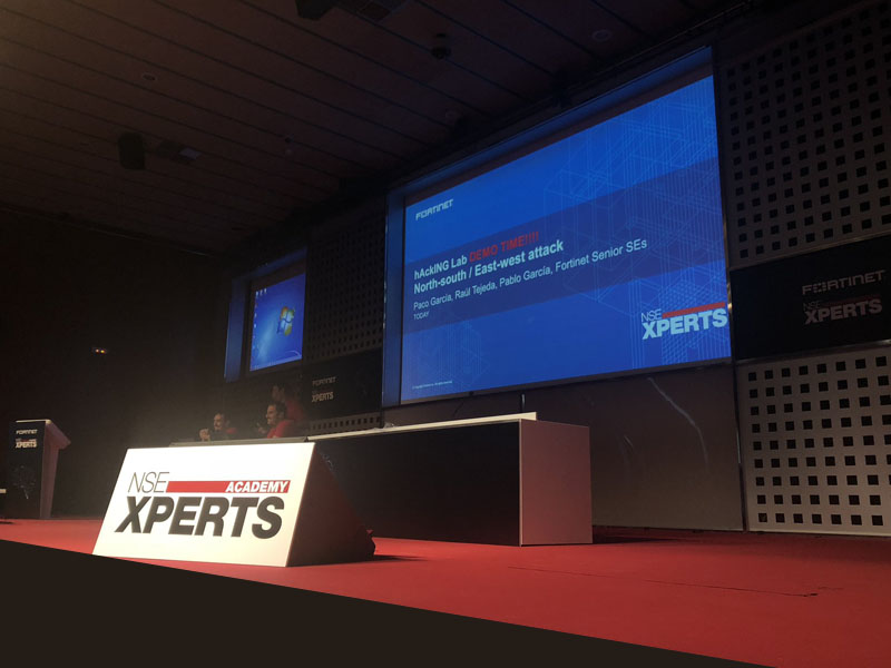 impresion foam evento fortinet