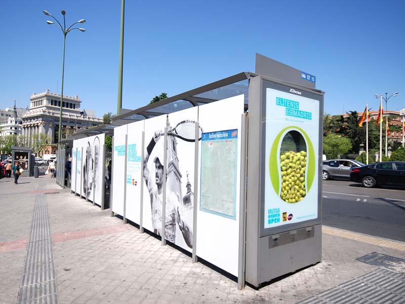 Grupo spi rotula y personaliza los mupis de jcdecaux con - Mobiliario urbano madrid ...