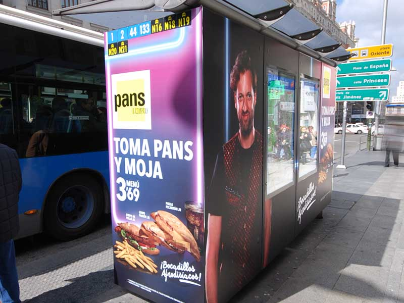 pans and company carteleria campana toma pans y moja