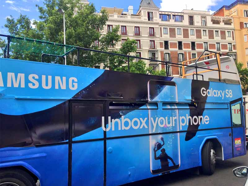 bus descapotable orgullo 2017 samsung