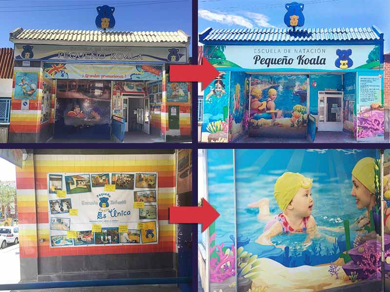 grupo spi redecora la fachada de peque o koala en madrid