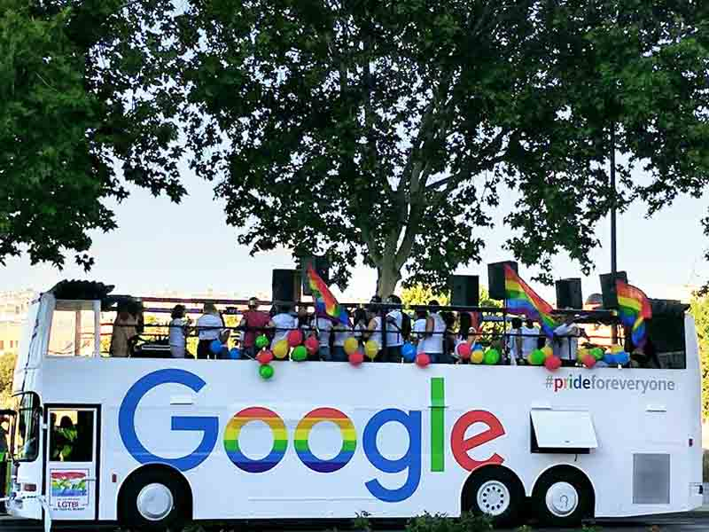 google bus world pride 2017