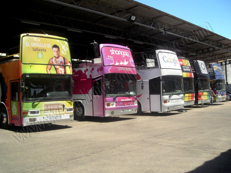 buses descapotables para Orgullo Gay