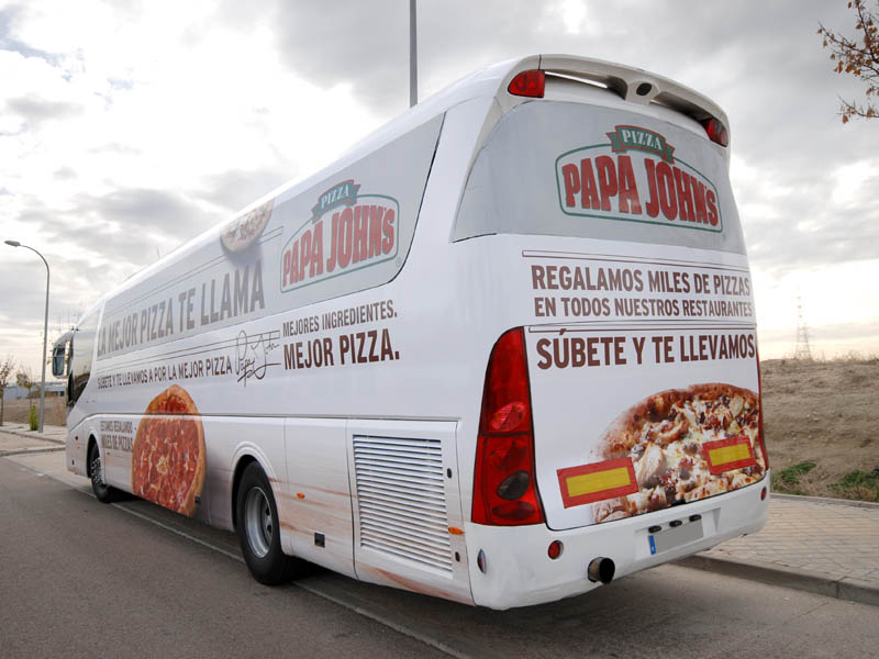 roadshow bus papa johns