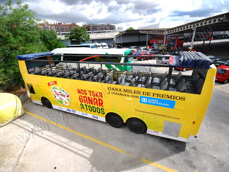 bus descapotable para eventos de marketing
