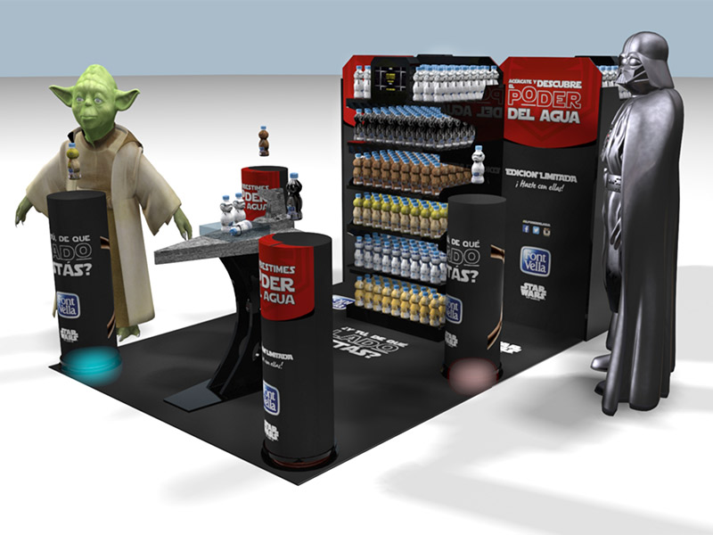 stands personalizados star wars