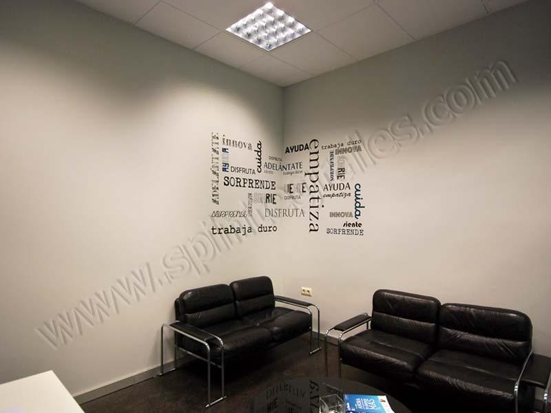 Spi rotulaci n decorativa carteler a y vinilos para oficinas for Decoracion oficinas y despachos
